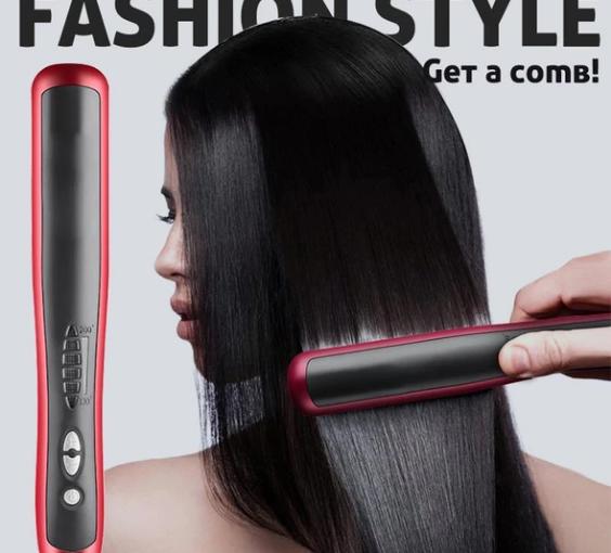 2 in 1 hair straightening curls styler