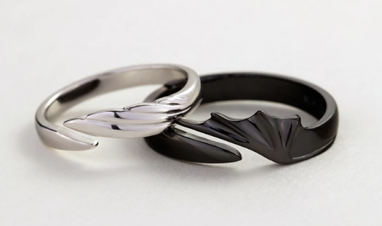 Angel & Devil Divine Couple Rings