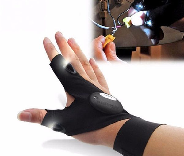 LED Light Fingerless Gloves