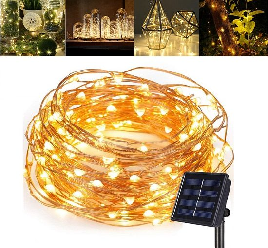 Solar LED Copper Light