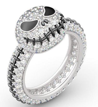Sterling Silver Jack Skull Ring