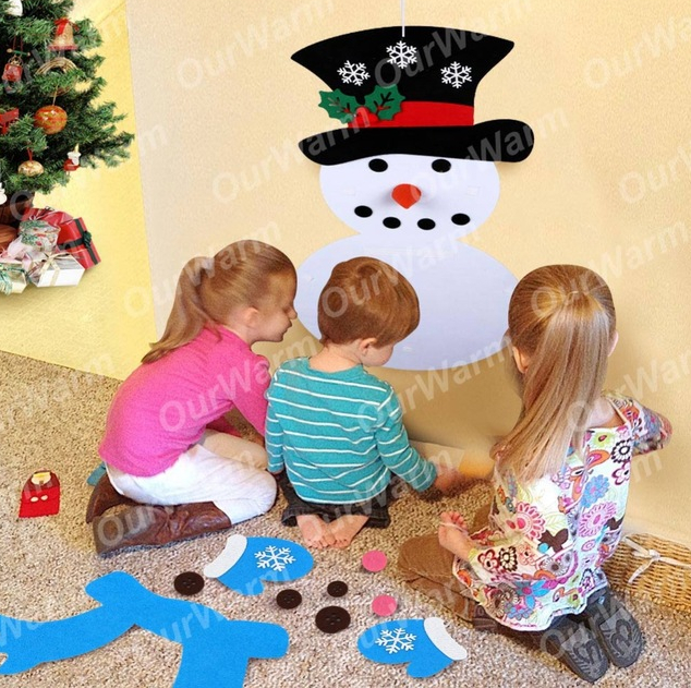 DIY Felt Christmas Snowman or Tree