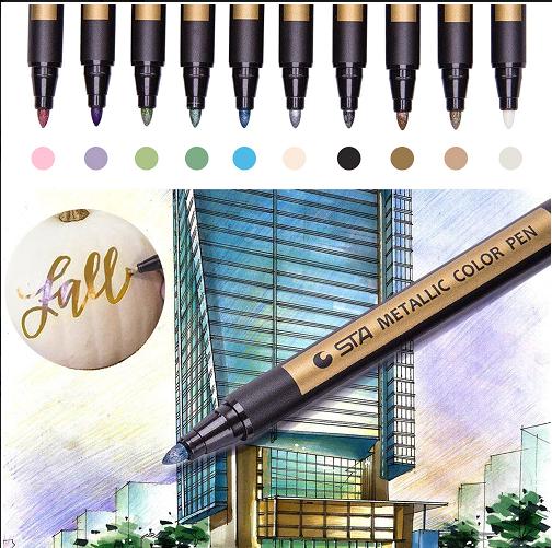 Metallic Brush Pens