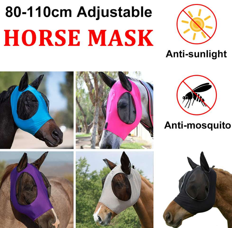 Anti-Fly Horse Mask