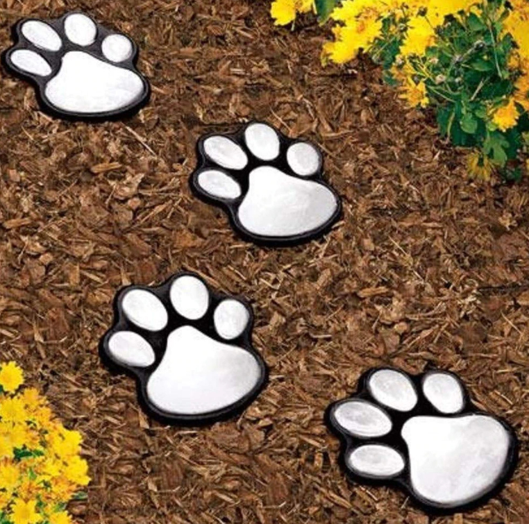 Solar Cat Animal Paw Print Lights