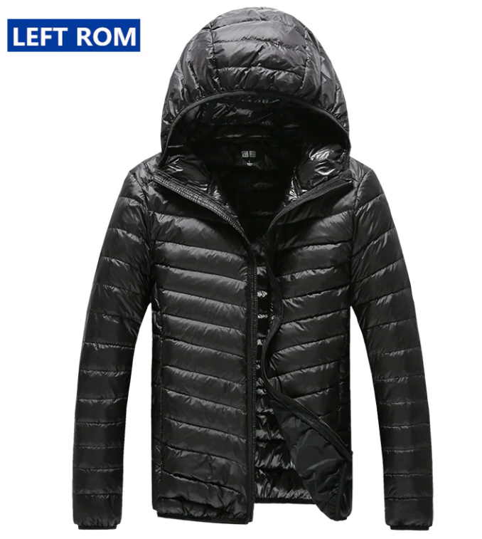 Men Feather Hooded Down Jacket