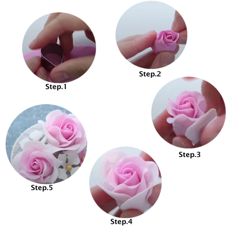 Rose Petal Silicone Veiner Mold