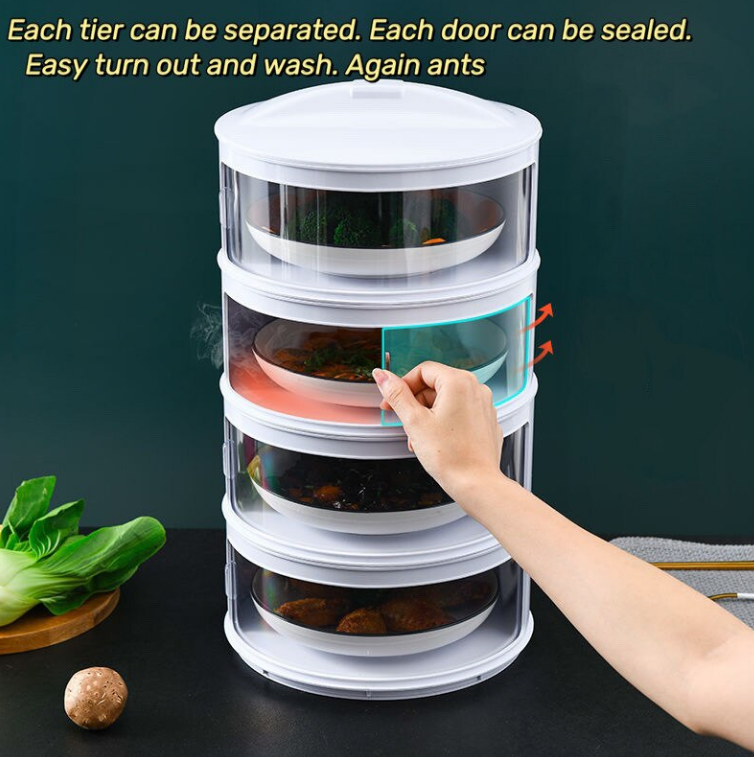 Food Stack Layer Insulated with Cover