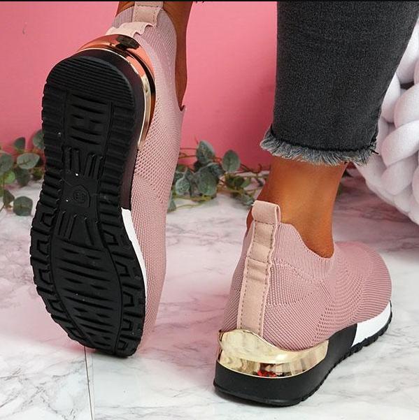 Elastic Slip-On Flat Shoes