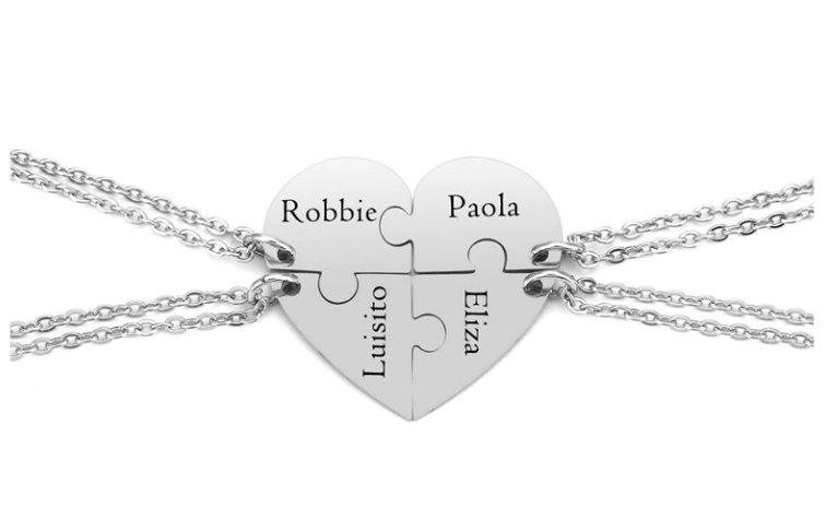 Personalized Puzzle Necklace