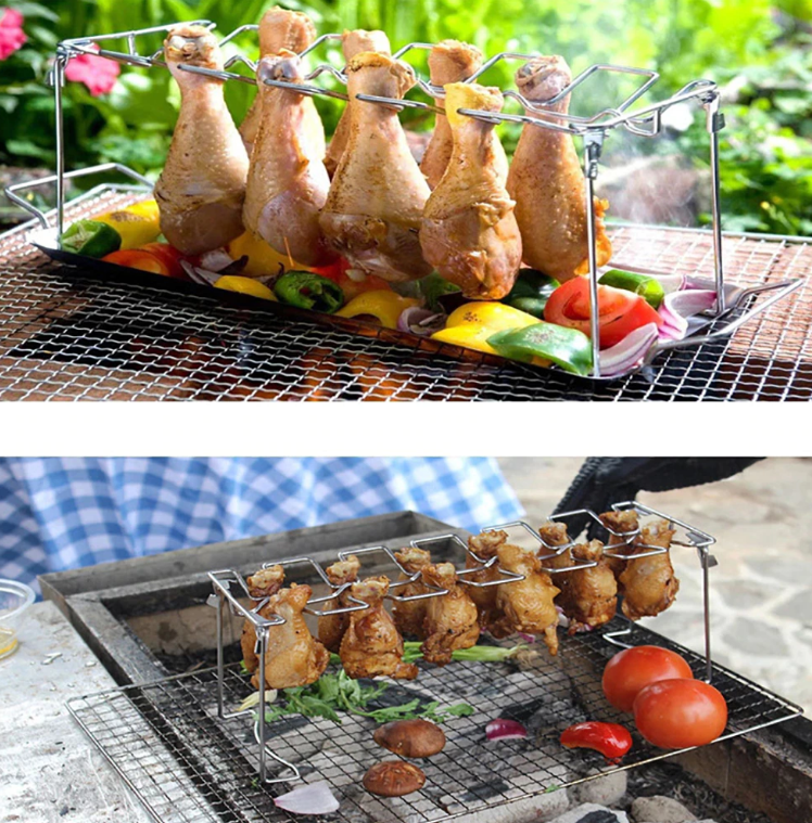 Chicken Wing Leg Rack For Grill