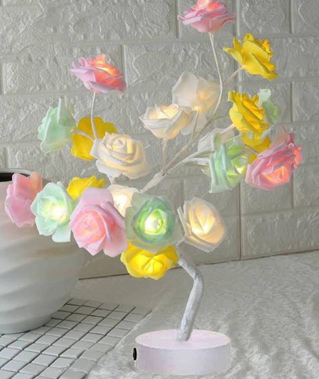 Table Lamp Rose Lights